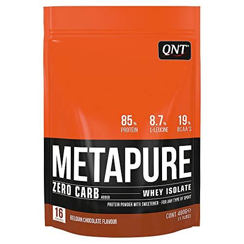 Qnt Metapure Zero Carb Whey Isolate Belgian Chocolate, 480 g - Zero Carb Whey Protein