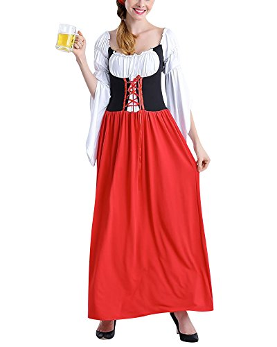 men Dienstmädchen Kostüm Einteiliges Kleid Maid Kleidung Cosplay Overall Club Wear 8 M (Maid Halloween Kostüm Ideen)