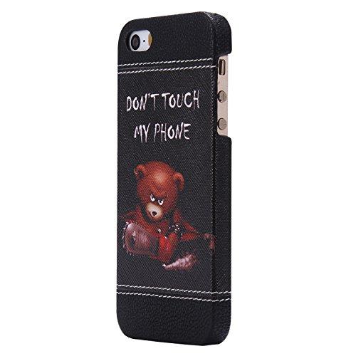 iPhone 6 Plus hülle,iPhone 6s Plus hülle,Ekakashop Niedlich Comic Style Orecchiette Muster PC + TPU Weiche Silikon Praktisch Back Bumper Case Cover Defender Protective Schutzhülle Handyhülle Tasche Et Bär