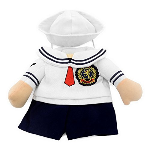Smalllee Lucky Store XY000314-L Boxer-Kostüm, modischer Umhang, L, Sailor Costume (Boxer Fancy Dress Kostüm)