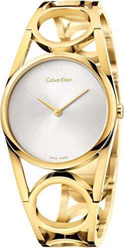 Calvin Klein Femme Digital Quartz Montre avec Bracelet en Acier Inoxydable K5U2M546