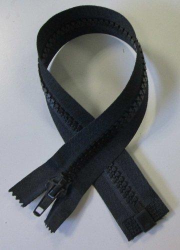 Reißverschluß Kunststoff teilbar für Motorradkleidung 40 cm schwarz (Reißverschluss-motorrad)