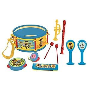LEXIBOOK- Toy Story 4, Disney Pixar-Conjunto Musical 7 Instrumentos en 1, Juguete Infantil a Partir de 3 años K360TS, Color Azul/Amarillo (