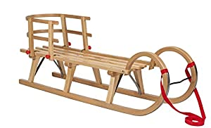 Impag® Hörner-Schlitten 115 cm | 125 cm lang | europäisches Buche Massivholz...
