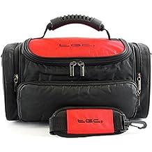 TGC ® Large Camera Case for Leica M Edition 60 Plus Accessories (Crimson Red & Black)