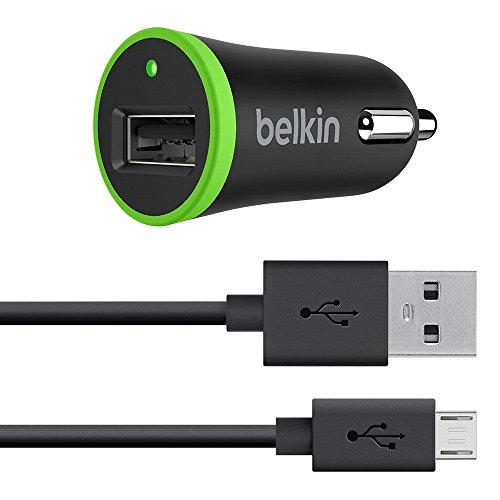 Belkin 2,4A Universal-Kfz-Ladegerät (mit 1,2-m-Micro-USB-Kabel, 40% schnelleres