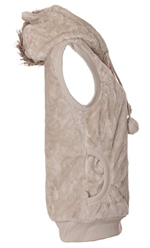 Sweat à capuche zippé à capuche pour homme avec öhrchen gilet en fourrure léopard Multicolore - Gris clair