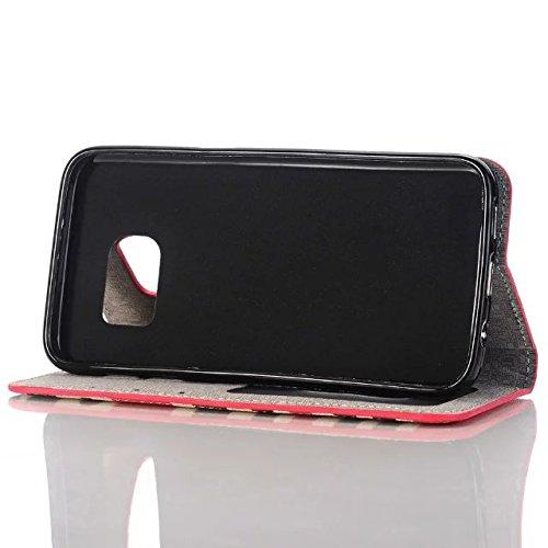 Samsung Galaxy S7 Case,bunter Regenbogen Streifen Farbdruck Lederetui Cover Mit 3 Kreditkarte Und 1 Bar Slots Für Samsung S7 ( Color : 4 , Size : Samsung S7 ) 1
