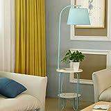 Floor Stand Lights - Nordic Lampadaire BedroomSofa Lampe de Table-Lampe de Lecture Lampe de Pêche Salon Assise Lampe Café Lampe de Table - Design Fixture Lighting (Couleur : Bleu)