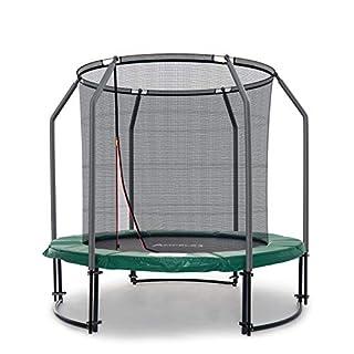 Ampel 24 Deluxe Outdoor Trampolin 244 cm komplett mit innenliegendem Netz, Belastbarkeit 120 kg, Sicherheitsnetz mit 6 Stangen und Stabilitätsring