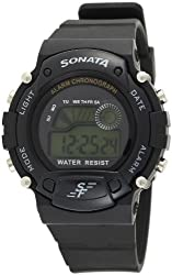 Sonata Digital Grey Dial Men's Watch - NG7982PP03J