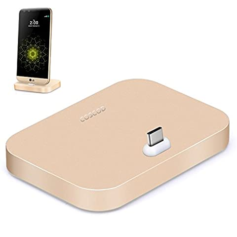 S8 Docking Station, COSCOD Aluminum Type C Charger Dock Sync
