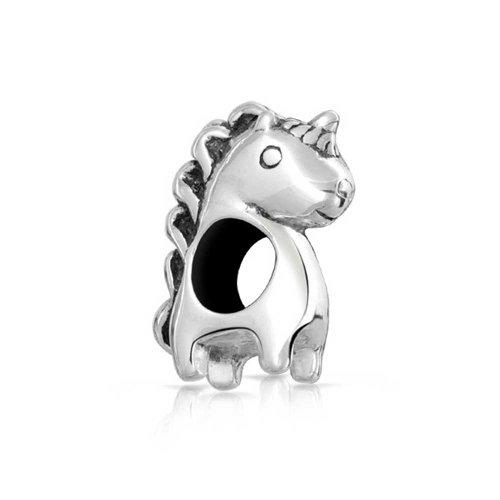 Bling Jewelry Unicornio 925 Plata Abalorio Animal