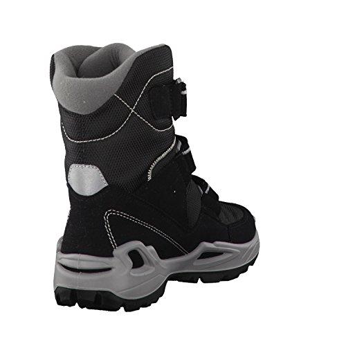 Lowa Milo Gtx Hi, Chaussures de Randonnée Hautes Mixte Enfant schwarz/hellgrau