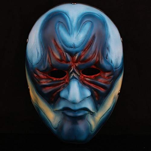 Kostüm Räuber Männlich - HAOBAO Halloween Resin Payday 2 Theme Collector Edition Blaue männliche Räuber-Maske