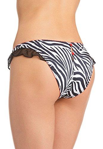 JOLIDON Clandestine Slip D1076, schwarz/weiß/rot Zebra schwarz/weiß/rot