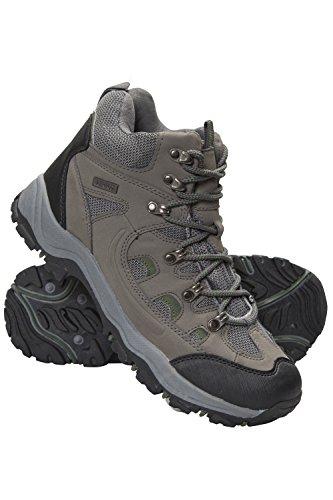 Mountain Warehouse Botas Adventurer para Hombre - Zapatillas Altas de Tejido y Material sintético para Caminar, Zapatillas de Verano con Agarre Adicional para Hombre Caqui 41