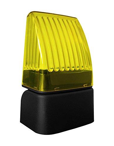 Lampeggiante universale lampeggiatore a LED 12 - 24 - 220V Nologo Snod-Led per automazione cancelli, sbarre, garage o sistemi di sicurezza. Snodo per montaggio in verticale o a parete compreso.