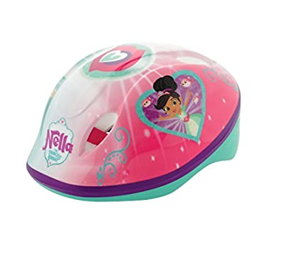 Nella The Princess Knight Girl Safety Helmet, Pink/Green, Medium from MV Sports and Leisure Ltd