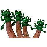 Set Of Five Rubber Finger Frog Puppets