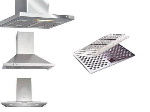 2 Kohlefilter (SPARSET) neu Dunsthaube, Dunstabzugshaube, Abzugshaube zuschneidbar einsetzbar über den Metall-Fettfilter von Conny Clever®