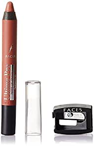 Faces Ultime Pro Matte Lip Crayon, Cashmere 23, 2.8g with Free Sharpener