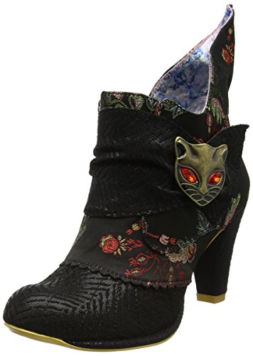 Irregular Choice Damen Miaow Stiefel, Black (Black Satin), 39 EU