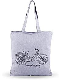 Shoppertize Latest Multipurpose Tote Bag, Designer Tote Bag, Tote Bag For College Girls -Grey Cycle