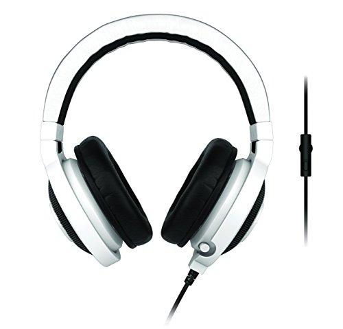 "Razer Pro-Casque Kraken Binaurale Noir/Blanc Casque avec microphone filaire ((3,5 mm 1/8"") jeux/PC Supraaural 20-20000 Hz Binaurale)"