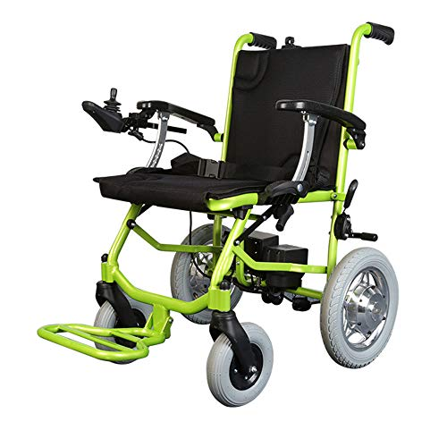 T.Kerry Aluminium-Legierung Elektro-Rollstuhl, Faltbare Ältere Behinderte Roller, Leicht Und Kann Das Flugzeug Nehmen, Grün (Sowohl Front-Und Heck Regler) - Elektro-regler