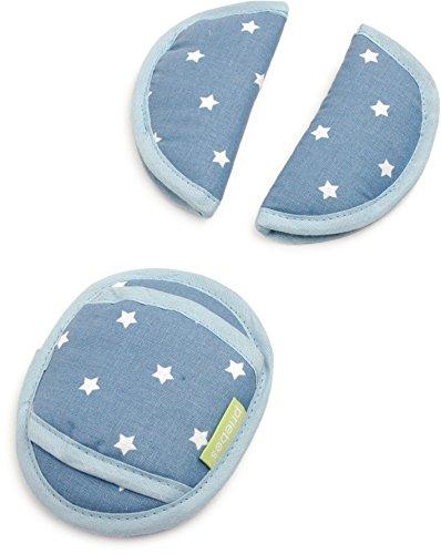 Universal Gurtpolster Kinder Priebes Philip Gurtpolster-Set für Babyschale Gurtpolster Kindersitz für Kinder & Babys, Design:stars denim