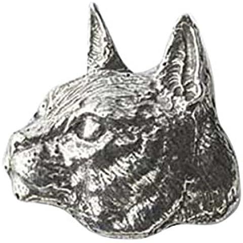 In peltro, motivo: gatto abissino, per frigorifero,