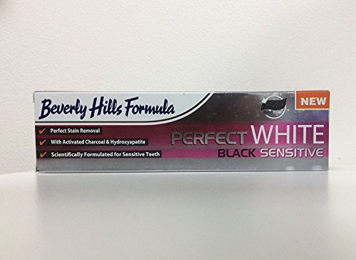 2 x Beverly Hills Formula PERFECT WHITE BLACK SENSITIVE / Aktivkohle 100 ml - Zahncreme mit deutscher Beschreibung - Zahnpasta für weisse Zähne - Zahn-Aufhellung - Bleaching