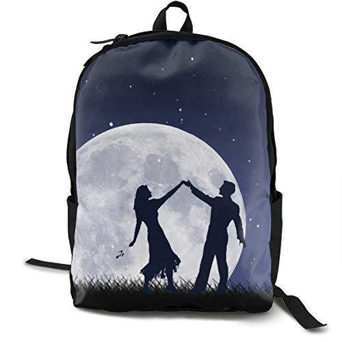 MGTXL Personality Knapsack Dancing In The Moonlight Mochila de Viaje para portátil