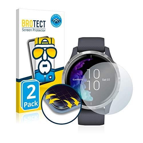 brotect Protection Intégrale 3D Incurvé Compatible avec Garmin Venu (43 mm) (2 Pièces) - Couverture Complète, Film Protection Écran