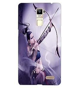 ColourCraft Warrior Girl Design Back Case Cover for OPPO R7