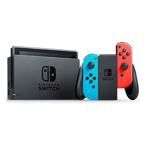 Nintendo Switch -  Consola color Azul Neón/Rojo Neón + Pokémon Let s Go Pikachu