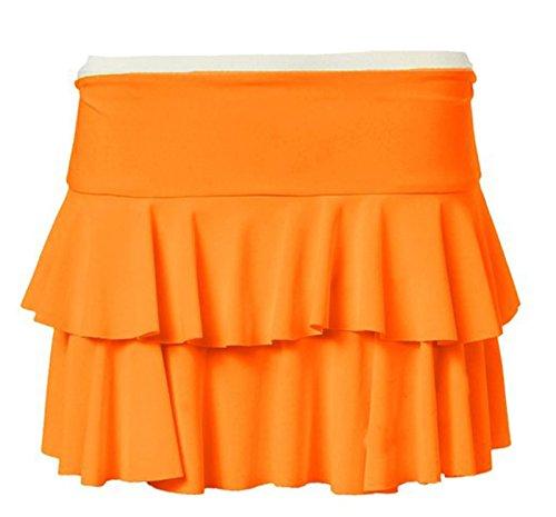 Freundin Trendz -Womens Rara TuTu Short Stretchy Rock Damen Minirock Orange