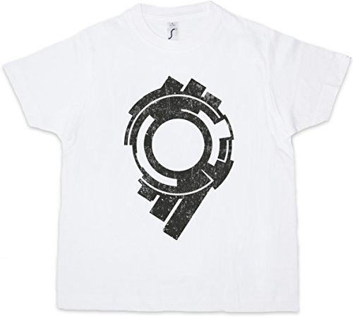 Urban Backwoods Section 9 Logo Kids T-Shirt Logo Sign Zeichen Ghost Movie In The Hanka Public Security Shell Squad Safety Police