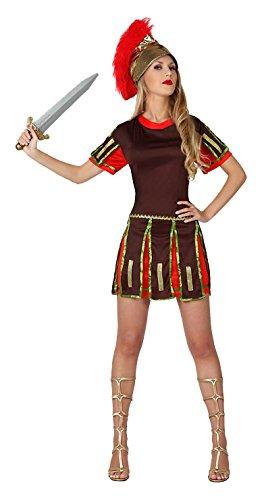 Kostüm Römische Kriegerin (Atosa–14415–Kostüm–Erwachsene–Römische Kriegerin–Größe)