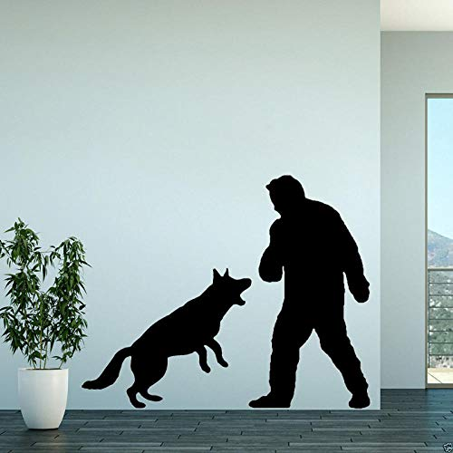 WandaufkleberSpaß-Mann Und Hund Spielen Für Raum-Schlafzimmer-Wand-Aufkleber-Abziehbild-Dekoration 60Cm * 47.8Cm (Halloween-spiele Easy Diy)