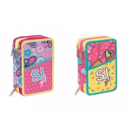 e505161ba2 Seven - Astuccio SJ Gang Girl 3 Zip Completo, 000