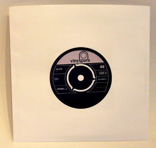 20 X 7 Vinyl 45RPM Einzel Weiß Papier Hüllen