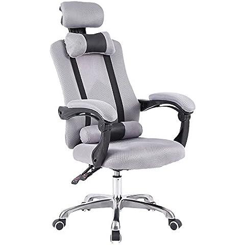 Sedia sedia computer Home Office Chair sedia girevole sedile,grigio, lega