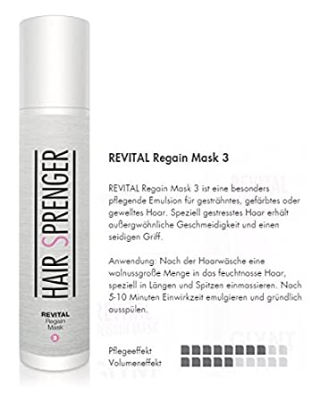hair sprenger revital regain mask 200ml farbschutzkur
