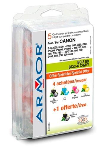 Preisvergleich Produktbild Armor B10060R1 Druckerkartusche kompatibel mit Inkjetdrucker Canon i560-i860-i865 / iP3000 / 4000 / 5000 Multipack Schwarz / Farbe