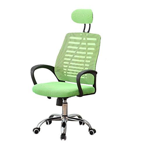Schreibtischstühler Yhz@ Moderne minimalistische Mesh Bürostuhl Home Computer Stuhl Mitarbeiter Konferenz Stuhl Boss Sessellift Drehstuhl Student Stuhl (Farbe : Green)