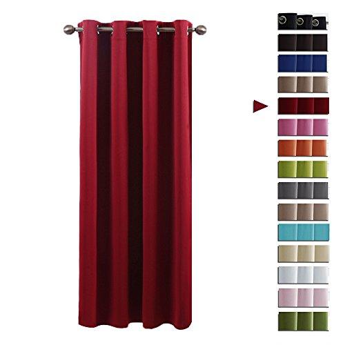 orhang mit Ösen - PONY DANCE 1 Stück 158 x 132 cm (H x B), Rot Vorhänge Verdunkelungsvorhänge geeignet für Saal Wohnzimmer home (Abdeckungen Und Vorhänge)