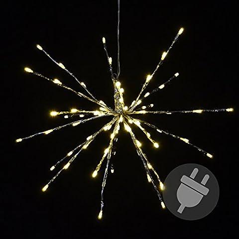 80 LED Meteor-Stern warm-weiß Innen Außen mit Trafo Weihnachtsstern zum Aufhängen Meteorschauer
