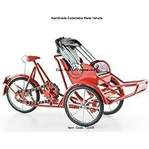 Xich-lo modelo, a mano de 3 ruedas de la bicicleta carrito tirado,